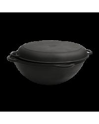 Казан с крышкой-сковородой