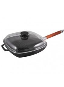 Сковорода-гриль с крышкой 26см