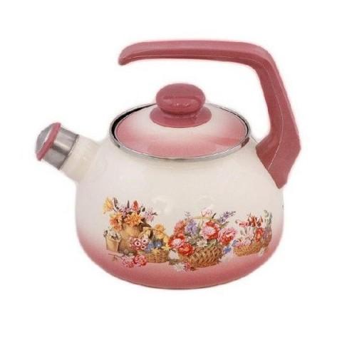 Сербский эмалированный чайник Metrot Краски лета 2,5 л