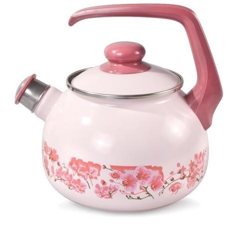 Сербский эмалированный чайник Metrot Орхидея 2,5 л