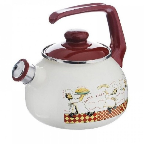 Сербский эмалированный чайник Metrot Поварята 2,5 л