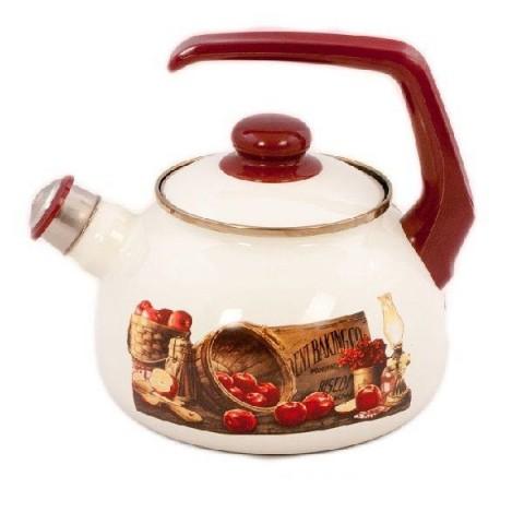 Сербский эмалированный чайник Metrot Яблоко 2,5 л