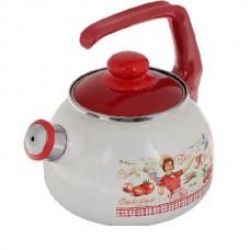 Сербский эмалированный чайник Metrot Винтаж 2,5 л
